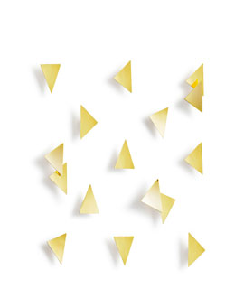 CONFETTI TRIANGULOS 16PCS BRASS