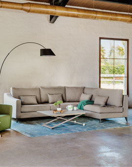 SOFA COFFEE 206X200X87 CM DROM 11