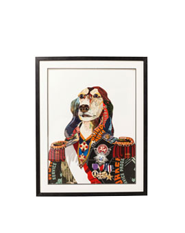 CUADRO ART GENERAL DOG