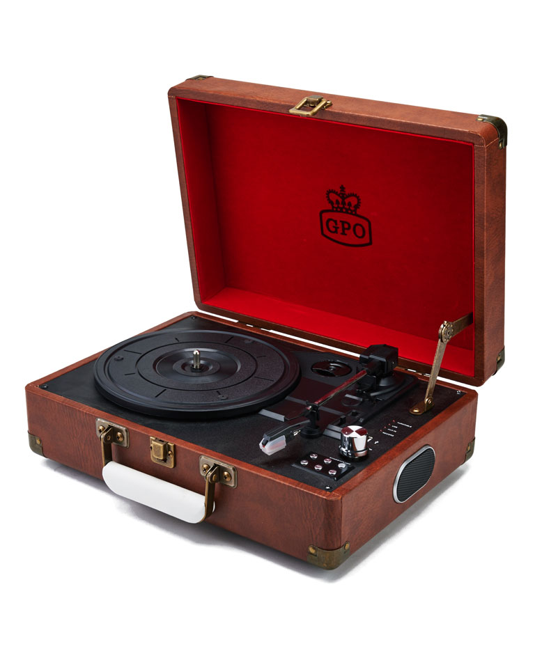 TOCADISCOS ATTACHE VINTAGE MARRON