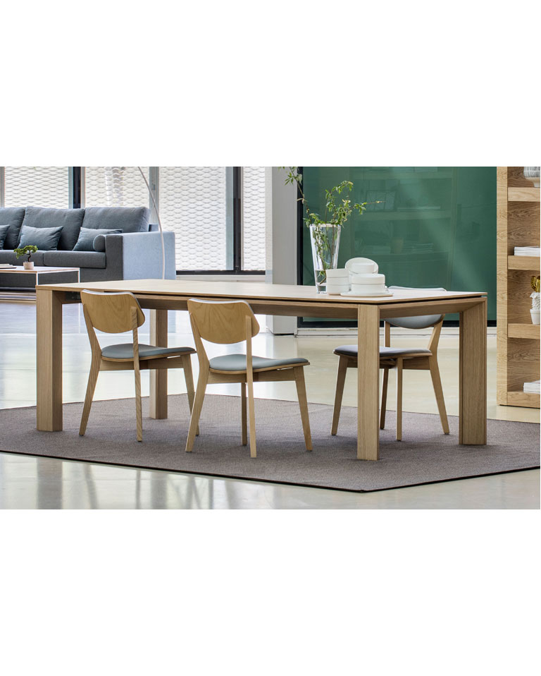MESA COMEDOR FLASH CHAPA ROBLE 180/280X95X78 CM